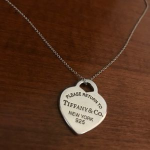 Return to Tiffany Heart Tag Pendant and Chain